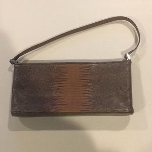 Ann Taylor Clutch Bag. Tan.